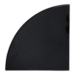 SCABOS TILE - Black Glass Corner Shelf - Black Glass Corner Shelf