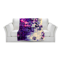 DiaNoche Designs - Fleece Throw Blanket by Julia Di Sano - Atomic Purple Dreams - Original Artwork printed to an ultra soft fleece Blanket for a unique look and feel of your living room couch or bedroom space.  DiaNoche Designs uses images from artists all over the world to create Illuminated art, Canvas Art, Sheets, Pillows, Duvets, Blankets and many other items that you can print to.  Every purchase supports an artist!