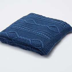 Indigo Dyed Knit Throw - This cuddly knit throw from Pottery Barn is the best way to fight off the early fall breeze. We'd love to snuggle up with this blanket and a cup of coffee on the porch.