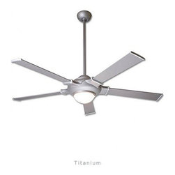 """Modern Fan - Modern Fan UFO ceiling fan - The UFO ceiling fan was designed by Ron Rezek for The Modern Fan Co. The UFO fan was developed as a fanciful alternative to the minimal look of our collection. The design suggests a retro space-age addition to a mid-century look and includes an integral halogen light. The UFO includes 3 standard down rods, 3"""", 6"""", & 14"""",  yielding 12"""",16"""", & 24"""" overall length respectively. Accessory down-rods are available for longer overall lengths.   Product Details:   The UFO ceiling fan was designed by Ron Rezek for The Modern Fan Co. The UFO fan was developed as a fanciful alternative to the minimal look of our collection. The design suggests a retro space-age addition to a mid-century look and includes an integral halogen light. The UFO includes 3 standard down rods, 3"""", 6"""", & 14"""",  yielding 12"""",16"""", & 24"""" overall length respectively. Accessory down-rods are available for longer overall lengths.                                      Manufacturer:                                      The Modern Fan Company                                                     Designer:                                     Ron Rezek                                                     Made in:                                     USA                                                     Dimensions:                                      Height: 16"""" (40.6 cm) X Blade Span: 42"""" (106.7 cm) or 52"""" (132.1 cm)"""