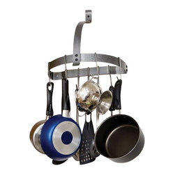 Enclume - Rack It Up Half Moon Wall Mounted Pot Rack - Dimensions: 14 x 7 x 15