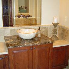 Traditional Powder Room by GEM Interior Design, Inc.