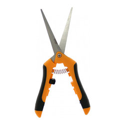Zenport - Zenport H355L Stainless Steel Hydroponic/Micro Blade Pruner - Micro Blade Pruners have straight stainless steel blades to prevent rusting and are easy to sterilize. The handles have comfortable rubberized sides that improve gripping power. Overall length is about 7-5/8 inches