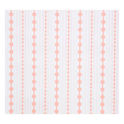 Kimberly Lewis Home - Striped Wallpaper, Sample, Cloudberry - Like raindrops on roses, this wallpaper will soon become one of your favorite things. At once playful and classic, try it in a little girl's bedroom or glam up a guest bath. It's screen-printed by hand using environmentally friendly inks and paper.