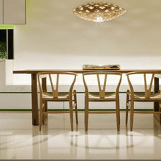 Architecture: Luxury Dining Table Volumetric Square House Design