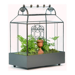 H Potter - H Potter Wardian Case Terrarium - Barrel Roof, Small - There are houseplants. And then there are plant houses. This charming, rounded-roof cottage will keep your delicate beauties protected and provide a true showcase to boot. Made of sturdy glass and zinc-finished metal, it's available in two sizes, in case your plants need extra square inch-age.