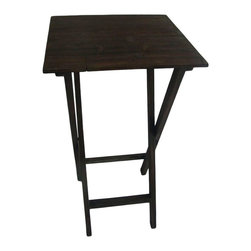 Cheung's - Wooden Foldable Table - Material: Wood. Color: Brown. Collapsible for easy Storage. 15.75 in. L x 15.75 in. W x 28.75h in. H (4.4 lbs)