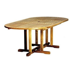 """Camden Teak 72"""" - 96"""" Oval Extension Table - Charming, nautical and thoroughly enjoyable are several words that will come to mind about your new Teak Camden Oval Extension Table.  Invite friends and family over for a cookout so you can all enjoy this spacious"""