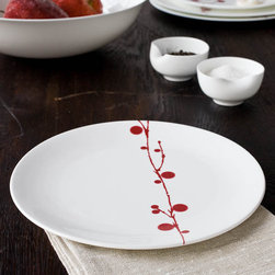 Bodo Sperlein - Bodo Sperlein Red Berry Salad Plate - Bodo Sperlein - These contemporary but classic designs are internationally renowned for their unique modern style. Made of the finest porcelain and finished in the Red Berry pattern, these hand painted pieces will make any home or table look elegant and fresh.