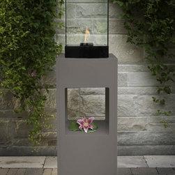 """DecorPro 17"""" x 17"""" Vertikal Decorative Fireburner / Firepot D50204 - Product Dimensions (IN): L 17.25"""" X W 17.25"""" X H 57"""""""