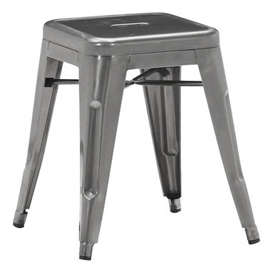 Rochelle Low Stool - Low Stool, Steel with gunmetal finish *other colours available for special orders.