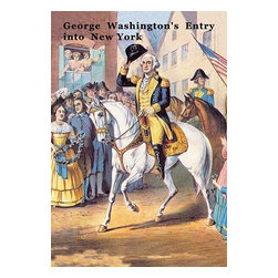 "Buyenlarge.com, Inc. - George Washington's Entry Into New York - Paper Poster 12"" x 18"" - Another high quality vintage art reproduction by Buyenlarge. One of many rare and wonderful images brought forward in time. I hope they bring you pleasure each and every time you look at them."