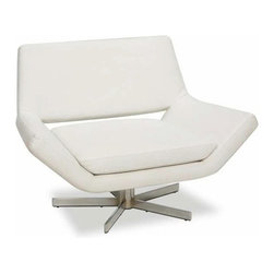 "Avenue Six - Avenue Six Yield 41"" Wide Chair, White - -RTA design for convenience and easy shipping"