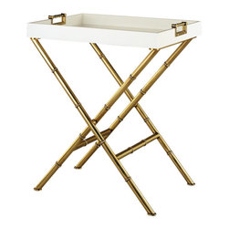 Robert Abbey - Robert Abbey Jonathan Adler Meurice Butler Tray Side Table 659 - Butler Tray Side Table