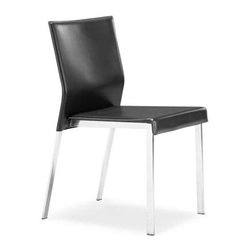 Zuo Modern - Boxter Chair, Set of 2, Black - Boxter Chair
