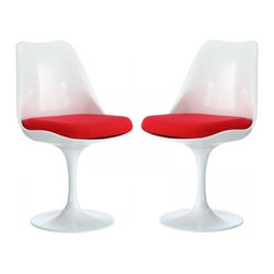 Modway Imports - Modway EEI-1343-RED Lippa Dining Side Chair Set of 2 In Red - Modway EEI-1343-RED Lippa Dining Side Chair Set of 2 In Red