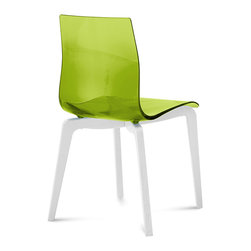 Domitalia - Gel-L Chair, Transparent Green - Sturdy ashwood base