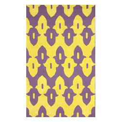 """nuLOOM - Contemporary 8' 3"""" x 11' Purple Hand Hooked Area Rug Cotton and Wool Trellis V - Made from the finest materials in the world and with the uttermost care, our rugs are a great addition to your home."""