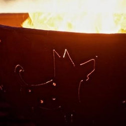"Fire Pit Art - Funky Dog Outdoor Fire Pit - A fun take on man's best friend, the Funky Dog Fire Pit will win the heart of any dog lover. Made from 1/4"" thick mild carbon steel, this durable pit a high temparture resistant inner bowl with rain drain. For a truly maintenance-free experience, it's made of American steel which offers corrosion and rust restistance for longevity during extended outdoor use. A charming outer iron oxide patina ages and darkens with time and is maintenance free.  Each dyanmic fire pit is numbered by the artist and reflected on an attached brass plate. Overall height of 24"" and a diameter of 36"".SpecificationsDimensions: (diameter x height)    Overall: D 36"" x  H 24""Material: 1/4"" Thick Mild Carbon SteelUse: Outdoors in outdoor living spacesMore Info: Pre-drilled rain drain for carefree maintenance      Warranty: 10-year warranty (after date of purchase)Made in: USA (Made in America)"