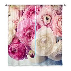 """DiaNoche Designs - Window Curtains Unlined - Sylvia Cook Shades of Pink - DiaNoche Designs works with artists from around the world to print their stunning works to many unique home decor items.  Purchasing window curtains just got easier and better! Create a designer look to any of your living spaces with our decorative and unique """"Unlined Window Curtains."""" Perfect for the living room, dining room or bedroom, these artistic curtains are an easy and inexpensive way to add color and style when decorating your home.  The art is printed to a polyester fabric that softly filters outside light and creates a privacy barrier.  Watch the art brighten in the sunlight!  Each package includes two easy-to-hang, 3 inch diameter pole-pocket curtain panels.  The width listed is the total measurement of the two panels.  Curtain rod sold separately. Easy care, machine wash cold, tumble dry low, iron low if needed.  Printed in the USA."""