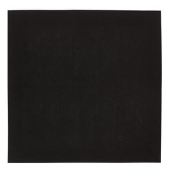 Huddleson Linens - Black Linen Napkin (Set of Four) - Jet black. Ebony. Midnight. No matter what you call it, basic black is considered a classic for a reason. These 100 percent Italian linen napkins from Huddleson are the ideal choice for inspired dining, allowing you to create a tabletop to match almost every occasion.