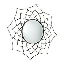 Cyan Design - Cyan Design 05612 Dahlia Transitional Round Mirror - Cyan Design 05612 Dahlia Transitional Round Mirror