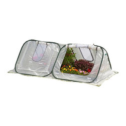 Flowerhouse - Flowerhouse 3 ft. Portable Starter House Greenhouse - 14331474 - Shop for Greenhouses from Hayneedle.com! The Flowerhouse 3 ft. Portable Starter House Greenhouse lets you get growing with new seeds or starters providing light humidity and warmth. Its compact design makes it perfect for smaller areas while its poly panels let in light while providing an ideal environment. This greenhouse features roll up panels screen windows and sets up easy with no tools.