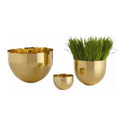Arteriors - Arteriors 6691 Stockholm Bowls, Set of 3 - Arteriors 6691 Stockholm Bowls, Set of 3 made with Polished Brass.