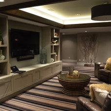 Contemporary Family Room by R.E.A Homes