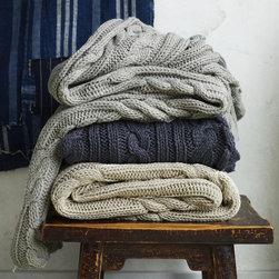 Braided Cable Throw - Snuggle up on the sofa this fall with a blanket that feels like your favorite sweater!