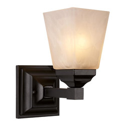 Trans Globe Lighting - 20331 BK 1 Light Bath BarMission Bath Collection - Warm up the house with rustic rectangle shades and bold geometric style. Raised and beveled square sconce wall plate with straight scone arm to compliment hallways, and rustic baths.