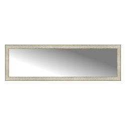 """Posters 2 Prints, LLC - 58"""" x 18"""" Libretto Antique Silver Custom Framed Mirror - 58"""" x 18"""" Custom Framed Mirror made by Posters 2 Prints. Standard glass with unrivaled selection of crafted mirror frames.  Protected with category II safety backing to keep glass fragments together should the mirror be accidentally broken.  Safe arrival guaranteed.  Made in the United States of America"""