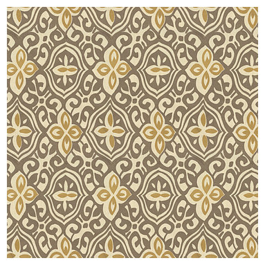Tan & Gold Moroccan Mosaic Cotton Fabric - Taupe & mustard yellow block print reminiscent of traditional Morrocan mosaics.Recover your chair. Upholster a wall. Create a framed piece of art. Sew your own home accent. Whatever your decorating project, Loom's gorgeous, designer fabrics by the yard are up to the challenge!