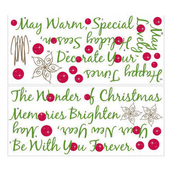"""RoomMates Peel & Stick - Christmas Tree Quote Giant Wall Decals - Here's a creative way to add the contemporary design of a Christmas tree and the modern """"wall quotes"""" idea to your wall: a quote tree! This seasonal phrase has been designed in the shape of a Christmas tree... complete with star, trunk, and decorative balls! What a clever idea! Apply it to any wall of your home for the Christmas season, then take it down and store it away for next year. Completely reusable and repositionable"""