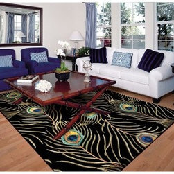 KAS Rugs Catalina 07 Peacock Feathers Area Rug - Take your living room to the wild side with this KAS Rugs Catalina 07 Peacock Feathers Area Rug. This exotic area rug design is made with 100% natural wool for comfort and quality. It also comes in a variety of sizes, colors, and shapes.About KAS RugsKAS Oriental Rugs, Inc. is one of the rug industry's leading suppliers of imported handmade and machine-made rugs. KAS was founded in 1981 by Rao Yarlagadda and his wife Kas. KAS started as a small importer selling Indian Dhurries and quickly became known as a forerunner in color and design trends. As a family business, KAS has retained a small company atmosphere while building an infrastructure to support its growing sales. Over the last 23 years, the company has valued every relationship and has given personal attention to each and every customer. This, coupled with extensive product growth, has supported KAS' leading position in this market, now servicing customers in every category of floor coverings and all channels of distribution throughout the United States.