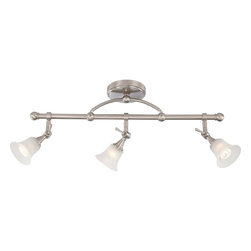 Nuvo Lighting - Nuvo Lighting 60-4154 Surrey 3-Light Fixed Track Bar with Frosted Glass - Nuvo Lighting 60-4154 Surrey 3-Light Fixed Track Bar with Frosted Glass (3) 50W Halogen Lamps Included