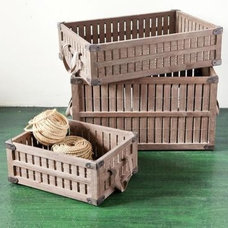Traditional Storage Bins And Boxes by Sundance Catalog