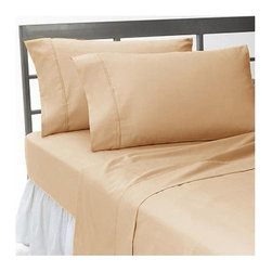 SCALA - 400TC 100% Egyptian Cotton Solid Taupe Expanded Queen Size Sheet Set - Redefine your everyday elegance with these luxuriously super soft Sheet Set . This is 100% Egyptian Cotton Superior quality Sheet Set that are truly worthy of a classy and elegant look.Expanded Queen Size Sheet Set Includes:1 Fitted Sheet 66 Inch(length) X 80 Inch(width) (Top Surface Measurement)1 Flat Sheet 98 Inch(length) X 102 Inch(width)2 Pillow case 20 Inch(length) X 30 Inch(width)