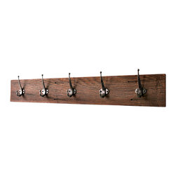 "Bluebirdheaven - Reclaimed Barn Wood Coat Rack, 36"" (Five Hook) - This unique, reclaimed barn lumber coat rack is a great way to organize. Makes a wonderful entry way addition or a classic mudroom piece."