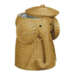 Rattan Elephant Hamper - This item is no longer available.
