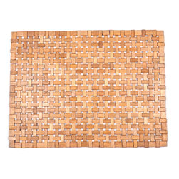 entryways - Roosevelt Exotic Wood Mat -Brown 18x30 - Crafted of exotic wood, this handsome mat will add an elegant touch to any home. It is from Entryways Exotic Woods collection and meets the industry's highest standards. This design combines natural beauty and durability with surprising affordability.