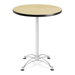 OFM - OFM 30 Round Cafe Height Table - Chrome Base - This 30 round table looks elegant in both lunch and meeting rooms and looks great with the model 310 stack chairs. The banding makes the edges smooth and gives it a finished appearance. The honeycomb core makes the table both lightweight and sturdy.