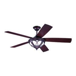 """Ellington Fans - Ellington Fans ART525 Artesia 52"""" 5 Blades (Included) Outdoor Ceiling Fan with R - Features:"""