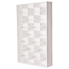 Contemporary Display And Wall Shelves  Cross White Shelves