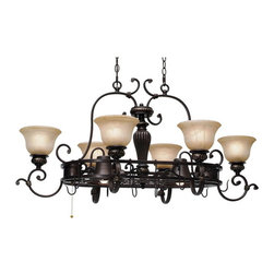 Golden Lighting - Golden Lighting 6029-PR62 EB 8 Light Pot Rack - Old world charm meets modern decor