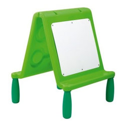 Wesco Chameleon Dry Erase Double Easel with Legs - About WESCOFor more than 30 years, WESCO has been proud to be a leader in children's developmental products. WESCO specializes in products from preschool products, sport and motor skills, soft furniture, sand and water tables, to playground equipment; educational toys, soft play equipment, and child play mats. WESCO products are fire retardant, easy to clean, extra-safe, and provide the upmost in fun and learning equipment combined in one.