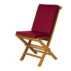 All Things Cedar All Things Cedar TC19 2 Folding Chair Cushion Maroon Hi