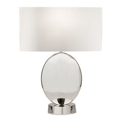 Fine Art Lamps - Fine Art Lamps 826010 Grosvenor Square Polished Nickel Table Lamp - Fine Art Lamps 826010 Grosvenor Square Polished Nickel Table Lamp