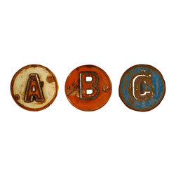 Groovystuff - Groovystuff Metal Art ABC Letter - Reclaimed, Barrel Pieces, Wall Art 1