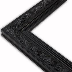 The Frame Guys - Embellished Black Picture Frame-Solid Wood, 12x16 - *Embellished Black Picture Frame-Solid Wood, 12x16